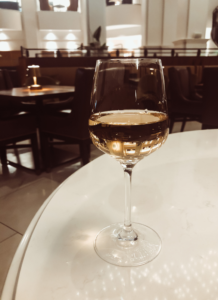a glass of white wine | Staycation at Chateau Elan Winery | 02
