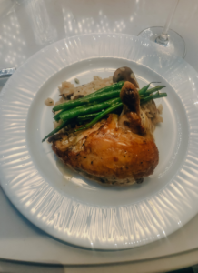 a dish of chicken | Staycation at Chateau Elan Winery | 04
