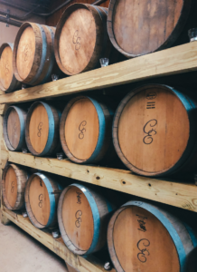 a bunch of barrels of wine | Staycation at Chateau Elan Winery | 06